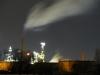 Hafenindustrie bei Nacht
