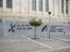 IMF go home – Grafitti für einen Schuldenschnitt vor der Akademie von Athen