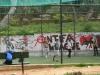 Fußballplatz nahe der Antiken Agora: Antifa League.