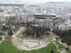 Blick von der Akropolis auf das 2009 eröffnete Akropolis-Museum.
