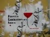 Stencils an Fassade in Exarchia – Front de Liberation de L'amour (Oré)