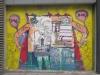 Wandbild in der Einkaufsstraße Ermou
