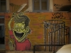 Wandmalerei in Exarchia – Befreiung aus dem Käfig